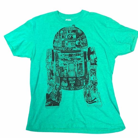 Star Wars Large green short sleeve R2-D2 T-shirt